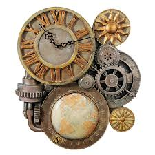 design toscano gears of time sculptural wall clock home u0026 kitchen