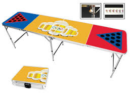 beer pong olympics 8 foot portable folding tailgate table
