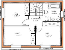 plan maison 4 chambres etage plan maison tage 4 chambres amazing modle et plans chaceniere du