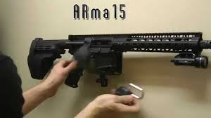 Wall Mounted Gun Safe Ar15 Lock And Wall Mount Installation Arma15 Youtube