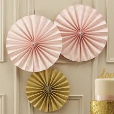 pastel pink circle fan decorations by