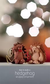 how to make a hedgehog sculpey ornament ideas