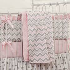Gray And Pink Crib Bedding Design Chevron Baby Bedding Set All Modern Home Designs
