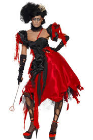 ladies scary queen of hearts costume