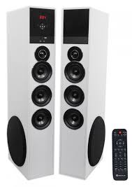 powered home theater speakers rockville tm150w white powered home theater tower speakers 10