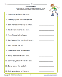 education world express action verbs worksheet