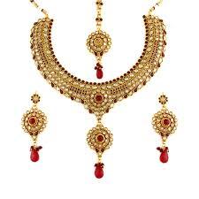 red necklace set images Stunning ethnic sets online necklace sets at best prices jpg