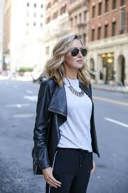 style statement necklace images How to wear track pants to the office memorandum nyc fashion jpg