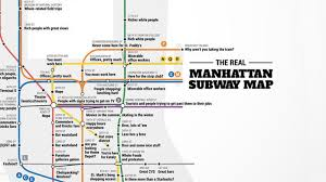Manhattan Metro Map by Crude Subway Map Tells The Truth About Each Manhattan Stop Curbed Ny