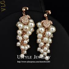 brand necklace aliexpress images Usytle brand design pearl grapes jewelry drop earrings in drop jpg