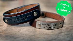 bracelet handmade leather images Memory bracelet handmade leather bracelet and engraving by 0&