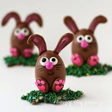 easter chocolate bunny chocolate easter egg bunnies filled with peanut butter fudge