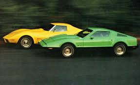 corvette stingray green chevrolet corvette stingray vs bricklin sv 1 u2013 comparison test