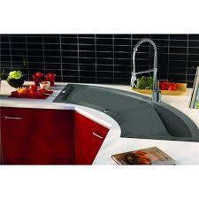 cuisine avec evier d angle evier d angle de cuisine à encaster 1 cuve en résine minérale