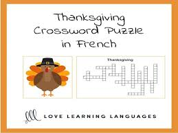 thanksgiving crossword puzzle by jenniferlcrespin