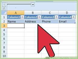 Form To Spreadsheet 3 Ways To Create A Form In A Spreadsheet Wikihow
