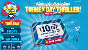 navy gobble palooza 3d thanksgiving sale coupon black