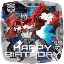 transformer birthday transformers happy birthday foil balloon birthdayexpress