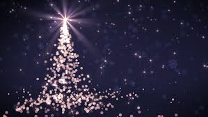 falling snowflake christmas lights abstract christmas tree animation with falling snowflakes and