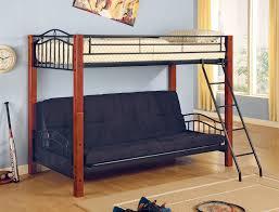 White Metal Futon Bunk Bed Furniture Save Big On Futon Metal Bunk Bed White