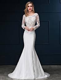 wedding dress mermaid sleeves wedding dresses search lightinthebox