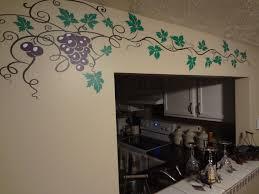grape vine decal wine home decor wall art sticker kitchen