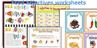 english teaching worksheets food adjectives