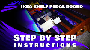 Homemade Pedal Board Design by Ikea Gorm Pedal Board Build Diy Project Youtube