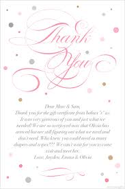 thank you note for diapers and wipes baby wipes