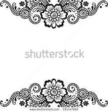 white flower corner lace ornament stock vector 249576688