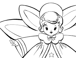 free christmas coloring pages retro angels graphics fairy