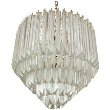 Chandelier Prisms For Sale Five Tier Crystal Prism Chandelier Flush Mount By Camer For Sale