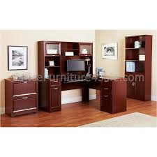 Cherry Computer Desk With Hutch by L Shaped Outlet Desk 60