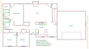 home layout ideas 3 bedrooms floor plan with two standard size bath designs