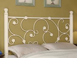 Rod Iron Headboard White Wrought Iron Headboard Atestate