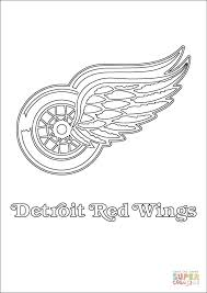 detroit red wings logo coloring page free printable coloring pages