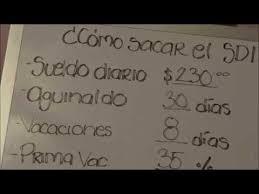 calculadora de salario diario integrado 2016 calcular sdi youtube