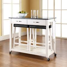 portable kitchen island with stools kitchen islands decoration alluring portable kitchen island with stools appealing white rolling barstools and drawers also black granite topjpeg