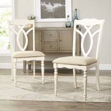 White Wooden Dining Table And Chairs White Kitchen Chairs You U0027ll Love Wayfair