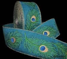 peacock ribbon ribbon 2 1 2 width ebay