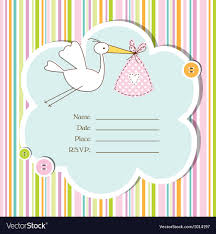 baby shower card baby shower card royalty free vector image vectorstock