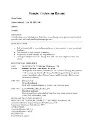 electrician resume sample electrician resume samples example 8