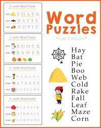 preschool worksheets word puzzles fall edition one beautiful home