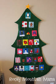12 days of felt tree advent calendar see