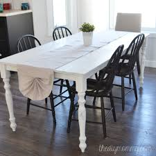 sew a shabby chic pleated table runner from a drop cloth the