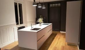 cuisine blanche avec ilot central cuisine aménagée réalisations mulhouse