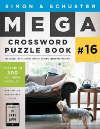simon u0026 schuster mega crossword puzzle book 16 simon u0026 schuster