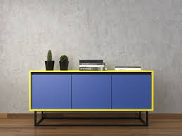 furniture modern sideboards with blue paint also glass buffet