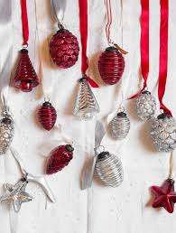 set of 24 and silver mercury glass ornaments balsam hill