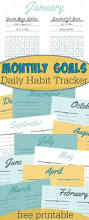 new year goals worksheet with daily habit tracker